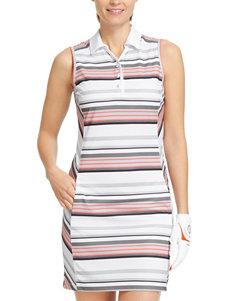 Izod Golf Stripe Print Polo Dress