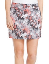 Izod Abstract Print Woven Skort