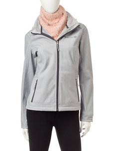 Free Country SIlver Puffer & Quilted Jackets