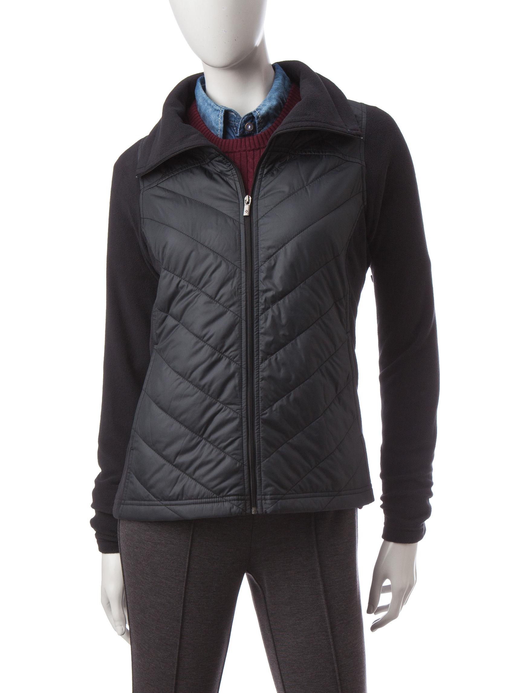 Columbia Black Lightweight Jackets & Blazers