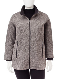 Valerie Stevens Grey Puffer & Quilted Jackets