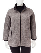 Valerie Stevens Plus-size Fleece Jacket