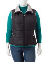 Valerie Stevens Plus-size Quilted Reversible Vest