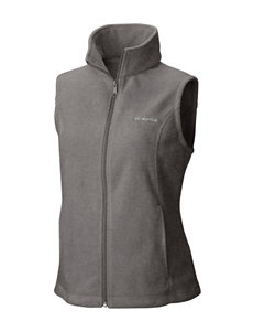 Columbia Charcoal Fleece & Soft Shell Jackets Lightweight Jackets & Blazers