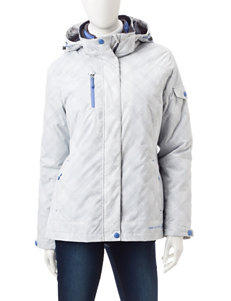 Free Country White / Blue Puffer & Quilted Jackets