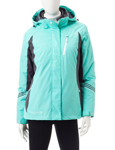 Free Country Green Puffer & Quilted Jackets