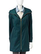 Anne Klein Teal Zip Front Coat