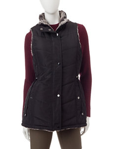 Mo-Ka Quilted Faux Fur Reversible Vest