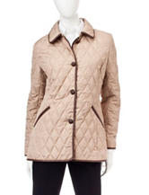 Chaps Diamond Quilted Barn Twist Coat