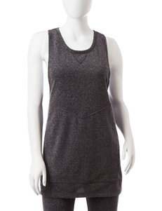 Steve Madden Grey Lace Up Detailed Top