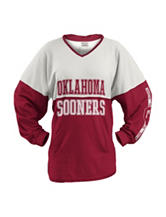 University of Oklahoma Color Block Hooded Top