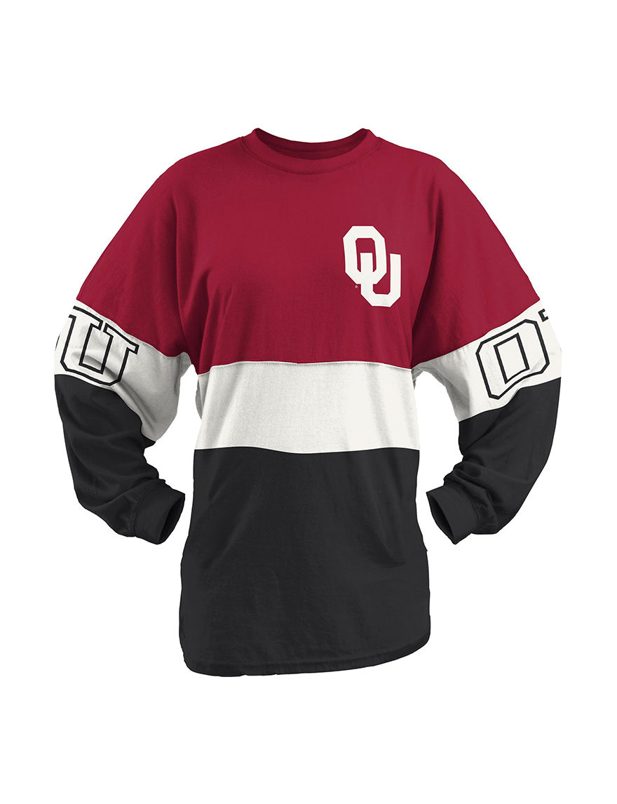NCAA Red / Black / White Pull-overs Shirts & Blouses Tees & Tanks NCAA