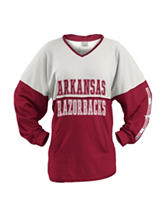 Arkansas Razorbacks Color Block Hooded Top