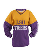 LSU Color Block Hooded Top