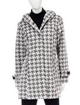 Valerie Stevens Houndstooth Print Coat