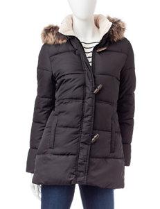 Chaps Black Peacoats & Overcoats