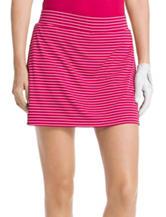 Izod Pink & White Stripe Print Woven Skort