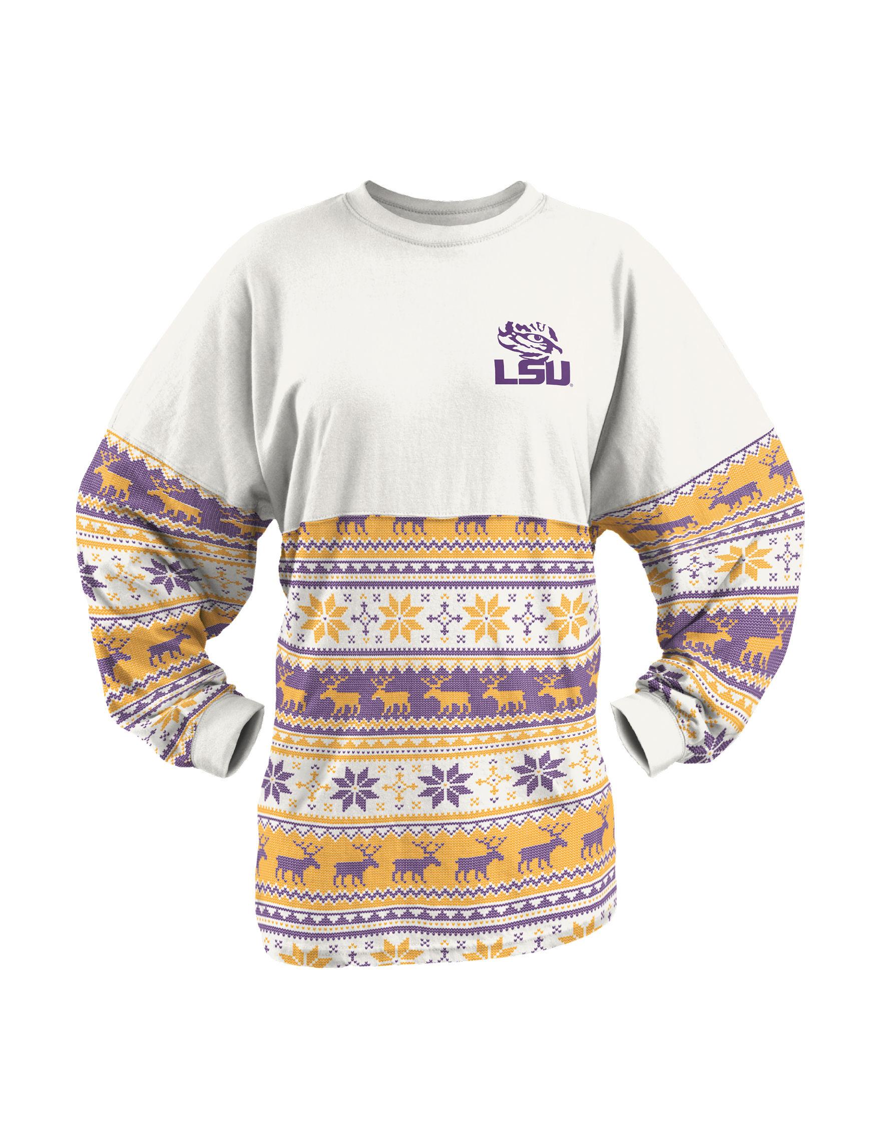 NCAA White Pull-overs Shirts & Blouses Tees & Tanks NCAA