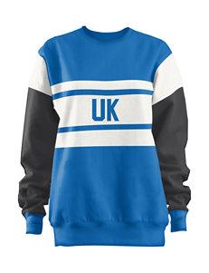 University of Kentucky Blue Black & White Color Block Leona Top