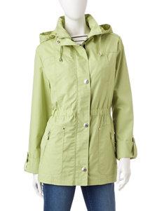 Mackintosh Green Poplin Anorak Coat