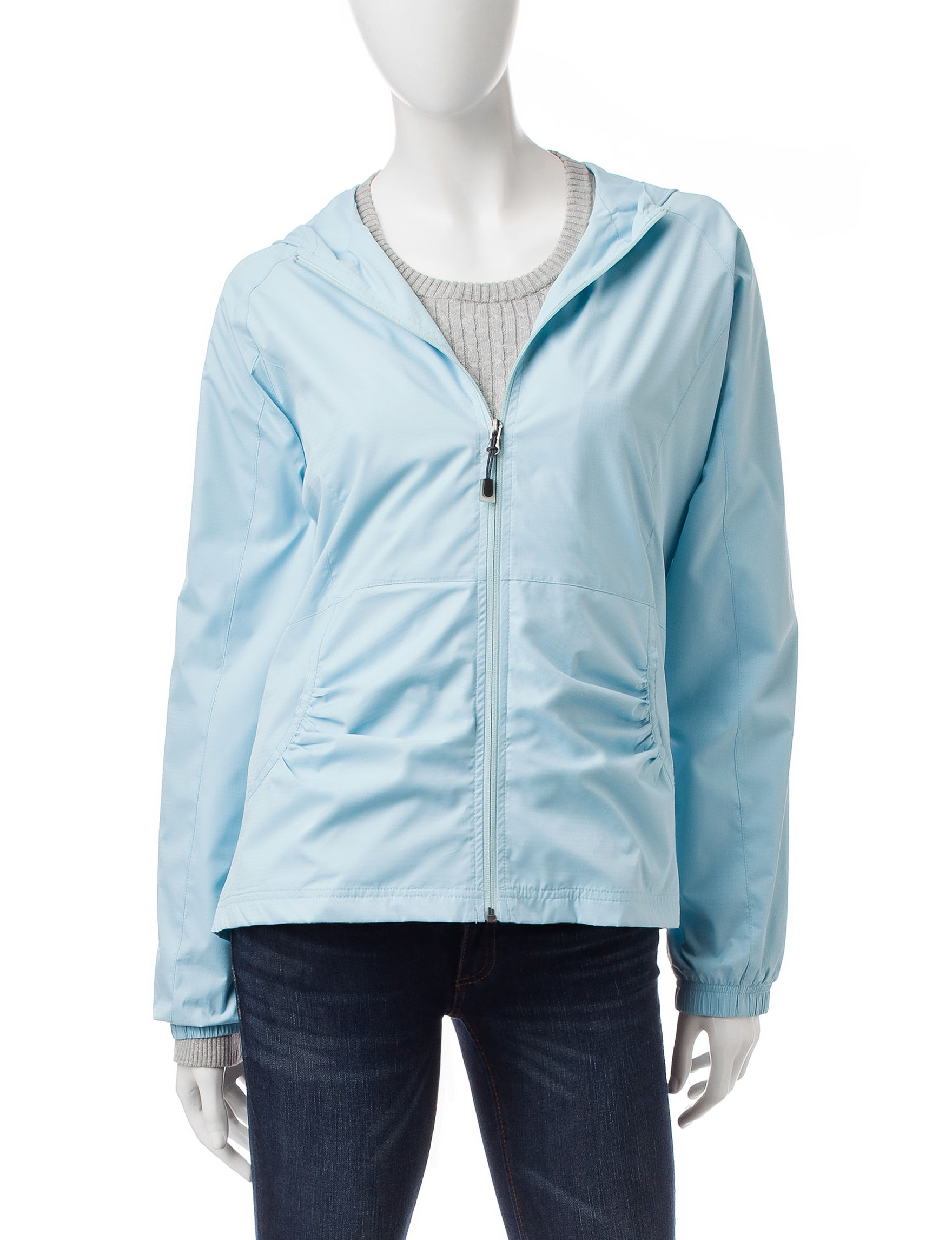Hannah Light Blue Windbreaker Jacket | Stage Stores