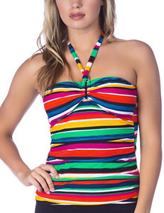 Chaps Stripe Tankini Swim Top