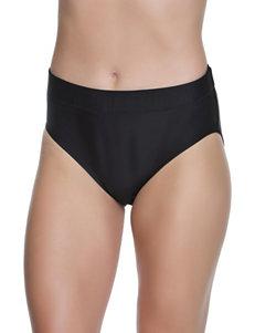 Beach Diva Black Swimsuit Bottoms High Waist