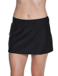Beach Diva Black Swimsuit Bottoms Skirtini