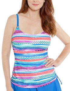 Beach Diva White Swimsuit Tops Tankini