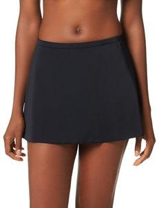 Caribbean Joe Black Circle Skirt Bikini Bottoms