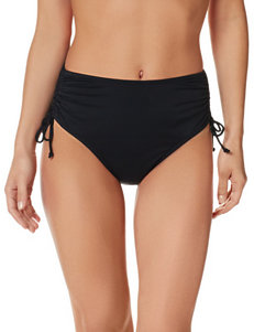 Caribbean Joe Black High Waisted Bikini Bottoms