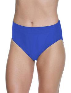 Beach Diva True Blue Swimsuit Bottoms High Waist