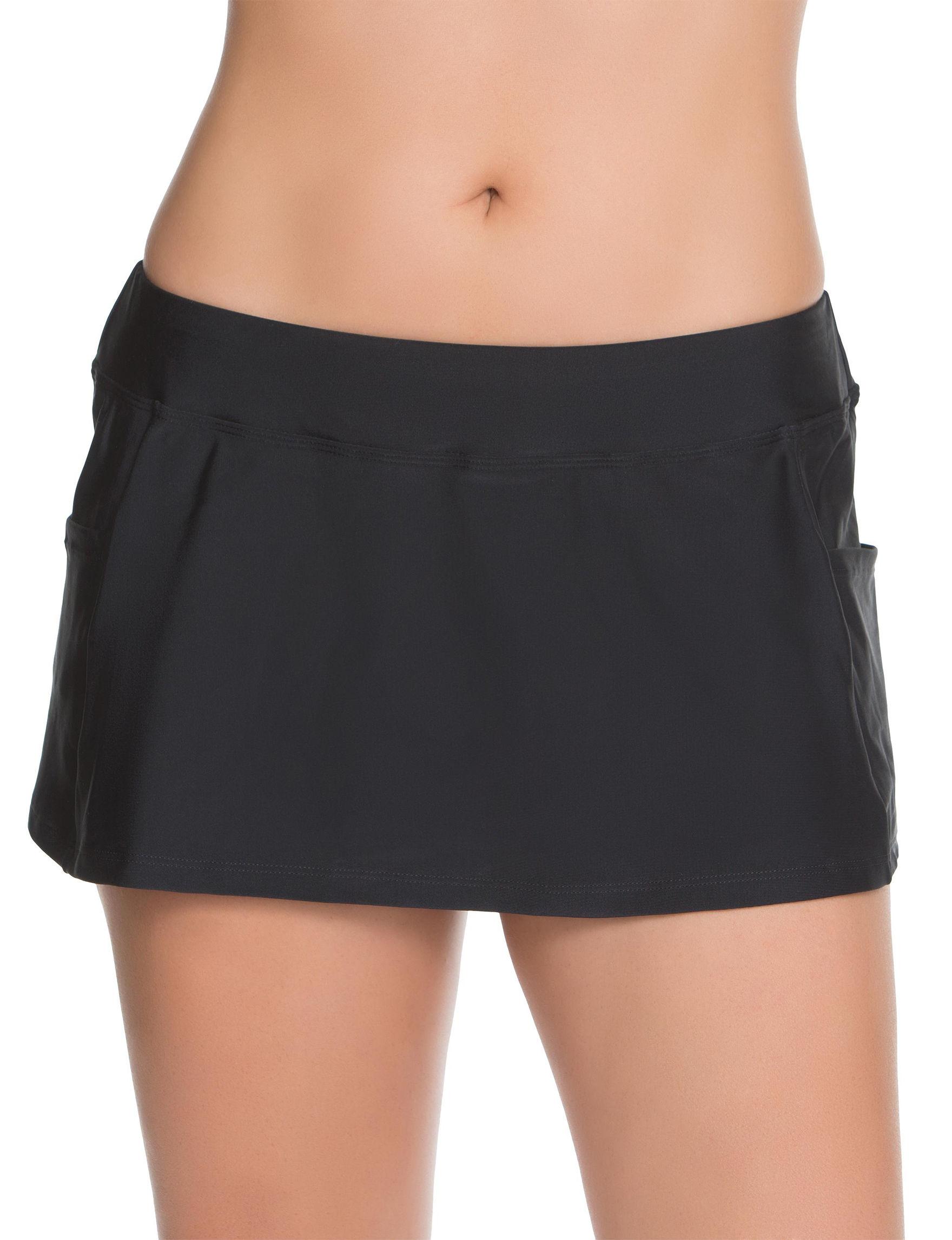 Splashletics Black Swimsuit Bottoms Skirtini