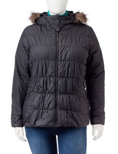 Columbia Plus-size Quilted Faux Fur Trimmed Hooded Jacket