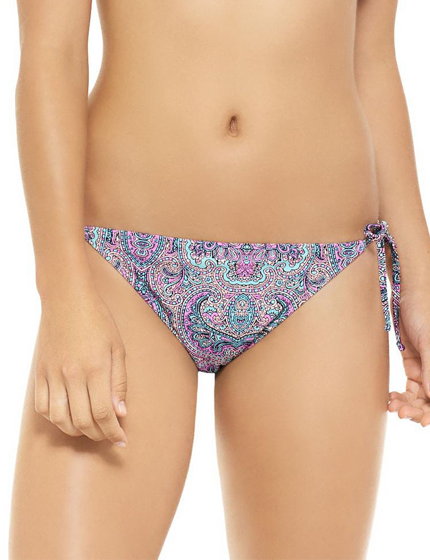 Hot Water Black Multi Swimsuit Bottoms Hipster
