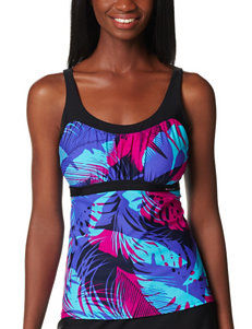 Zero Xposur Blue Swimsuit Tops Tankini