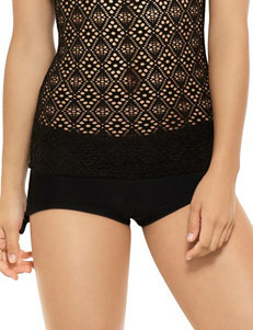 Hot Water Black Swimsuit Bottoms Boyshort