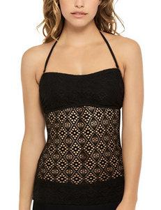 Hot Water Black Swimsuit Tops Bandeau