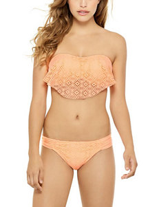 Hot Water Orange Swimsuit Tops Bandeau