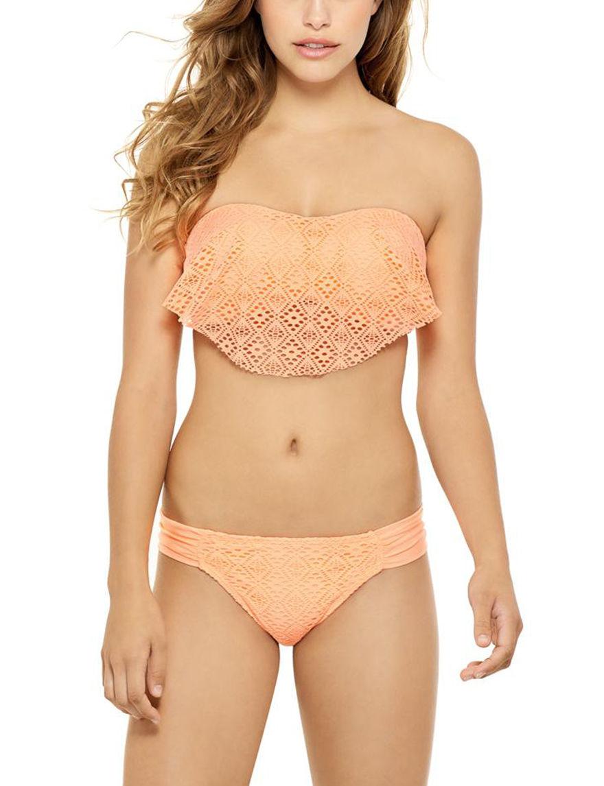 Hot Water Orange Swimsuit Tops Bandeau