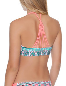 Polka Dot Pink Swimsuit Tops Bandeau