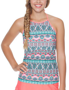 Polka Dot Pink Swimsuit Tops Tankini