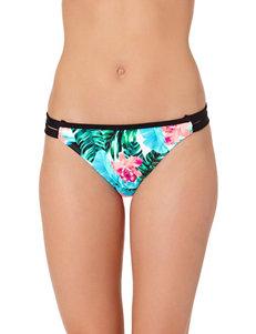 In Mocean Black Multi Swimsuit Bottoms Hipster