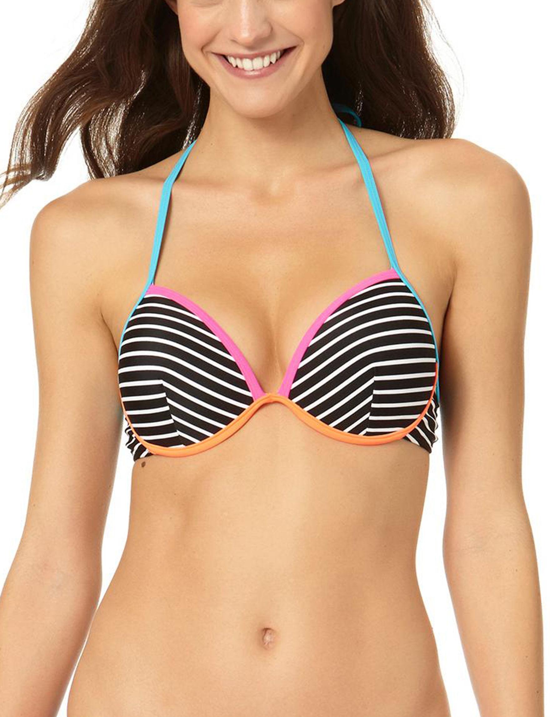 In Mocean Black / White Swimsuit Tops Bralette Push Up