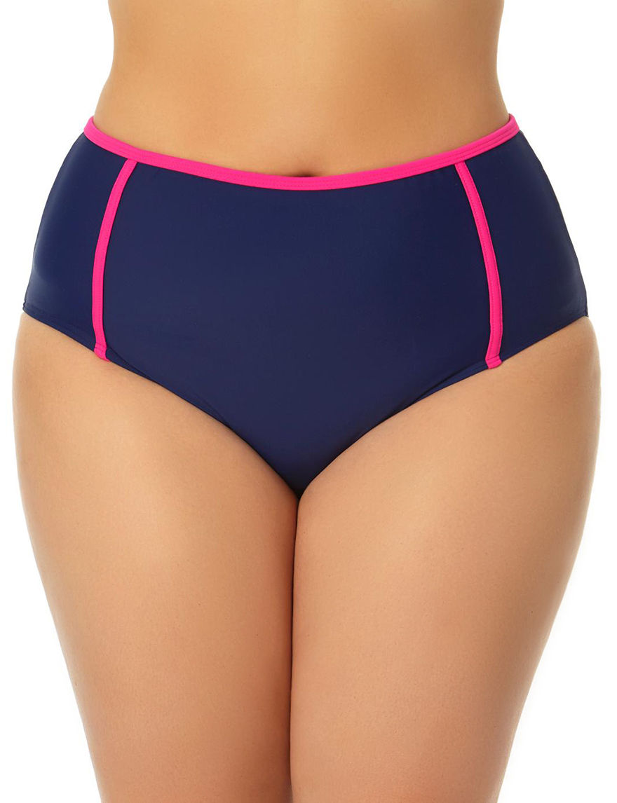 Allure Navy / Pink Swimsuit Bottoms High Waist