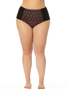Allure Black / Nude Swimsuit Bottoms High Waist