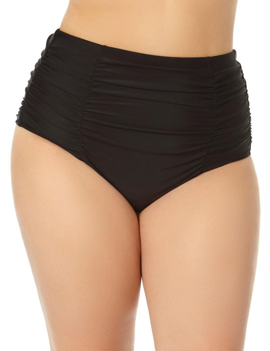 Allure Black Swimsuit Bottoms High Waist