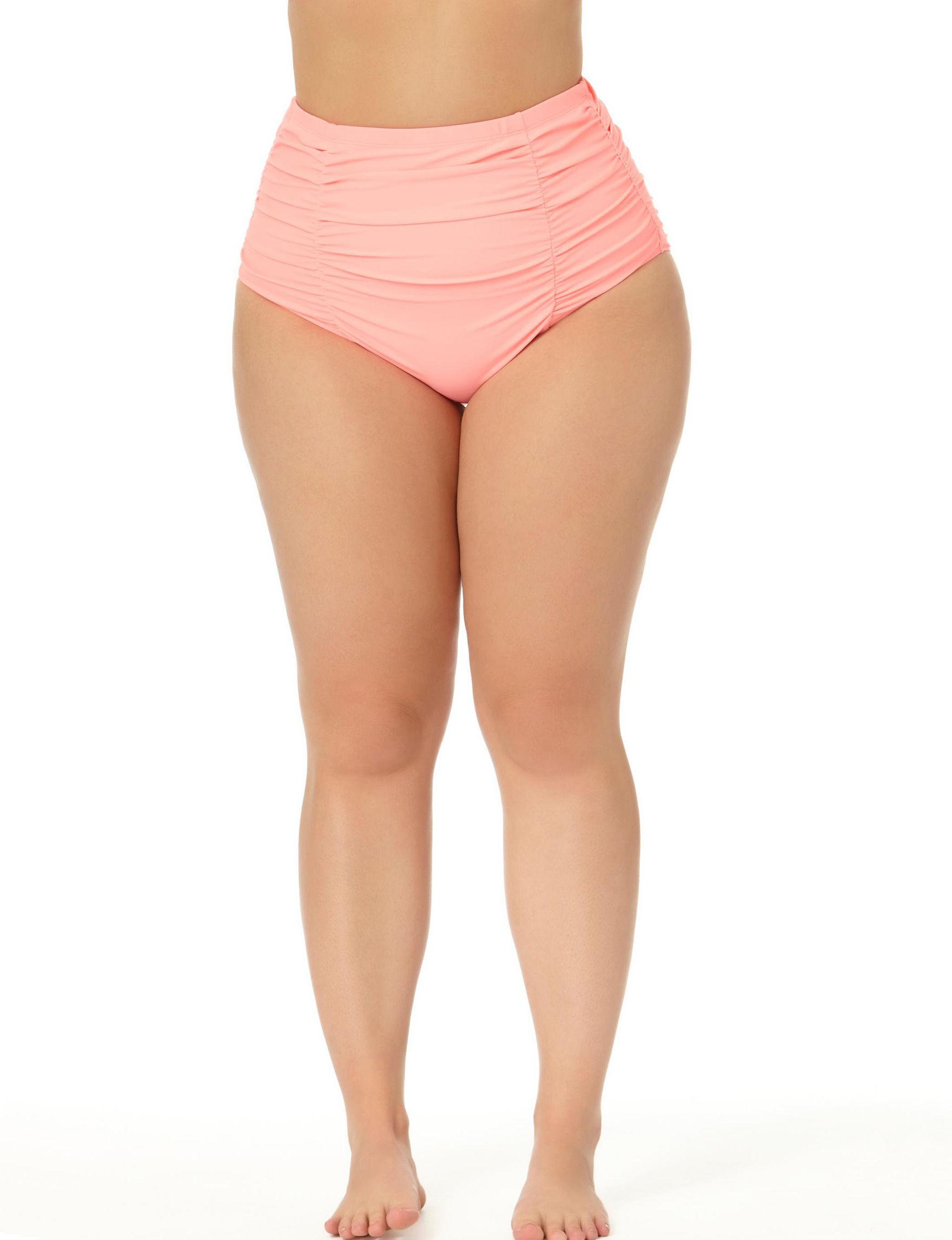 Allure Light Orange Swimsuit Bottoms High Waist