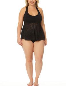 Allure Black Swimsuit Tops Tankini