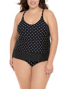 Costa del Sol Black /  White Swimsuit Tops Tankini